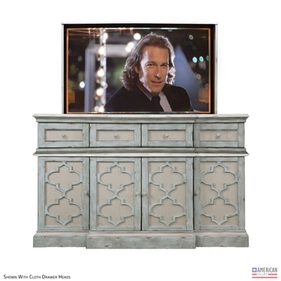 French Country Clayton TV Lift Cabinet