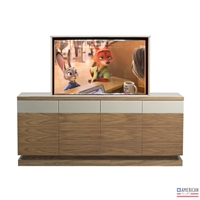 Modern Rail TV Lift Cabinet