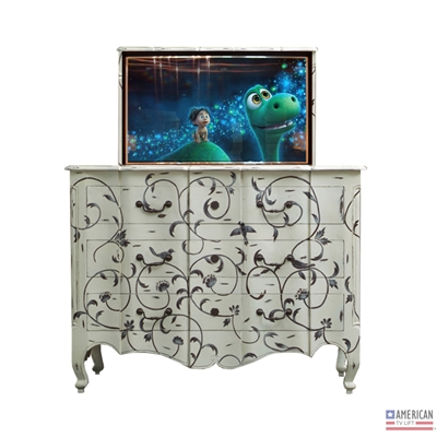 French Country Dover TV Lift Cabinet