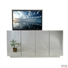 Modern Beveled Mirror TV Lift Cabinet