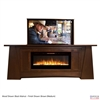 "50"" TV Lift Cabinet - Modern Aspen Fireplace (SC)"