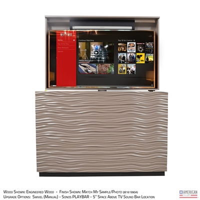 "65"" TV Lift Cabinet - Modern Wave (SC)"