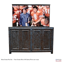 "65"" TV Lift Cabinet - Rustic Boston"