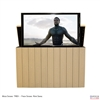"55"" TV Lift Cabinet - Modern California Outdoor (SC)"
