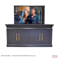 "65"" TV Lift Cabinet - Transitional Flint XL (SC)"
