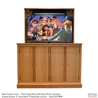 "55"" TV Lift Cabinet - Traditional Ridgeland"