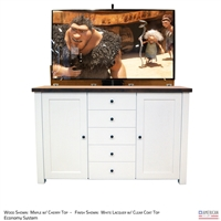 "60"" TV Lift Cabinet - Traditional Pomona"
