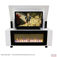 "50"" TV Lift Cabinet - Modern Rockford Fireplace"