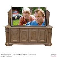 "65"" TV Lift Cabinet - Traditional Irvington"