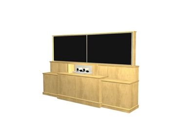 Videoconferencing Dual Monitor Lift Cabinet