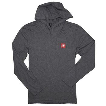 L/S Triblend Hoodie Tee - Grey Frost