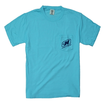 Comfort Pocket Tee - Lagoon Blue