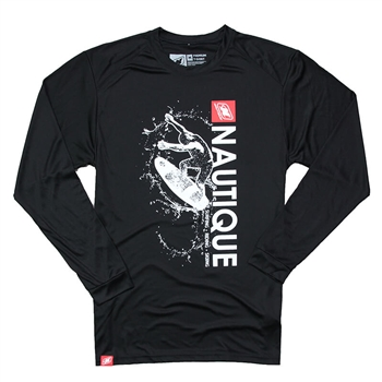 Wave LS Performance Tee - Black