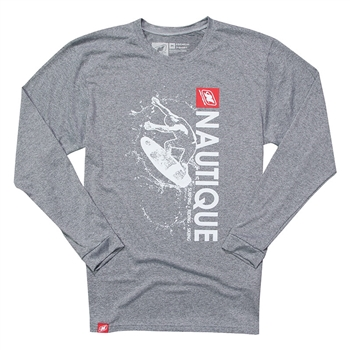 Wave LS Performance Tee - Heather Grey