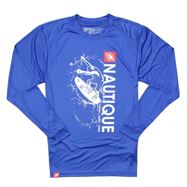 Wave LS Performance Tee - Royal