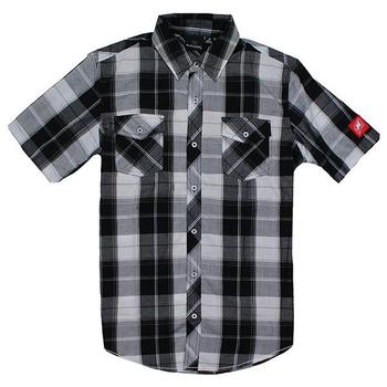 Burnside S/S Shirt - White / Black