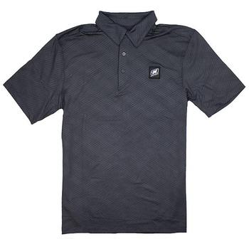 Embossed Polo - Black Silk