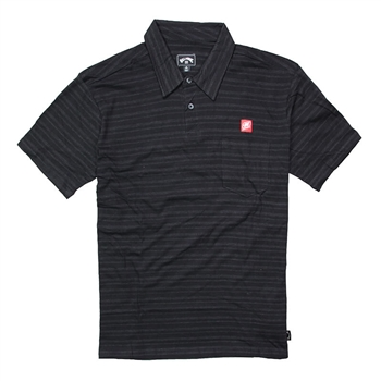 Billabong Standard Issue Polo - Black - CLEARANCE
