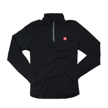 Nautique Ladies Textured 1/4 Zip Pullover - Black