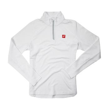 Nautique Ladies Textured 1/4 Zip Pullover - White
