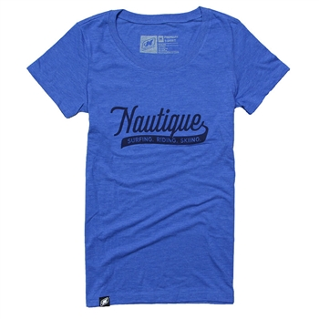 Ladies Script Tee - Royal