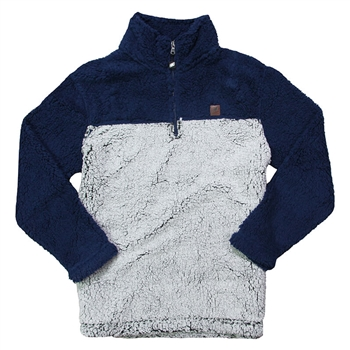 Women's Sherpa Pullover - Navy | Frosty Grey