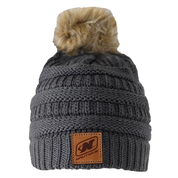 Women's Cable Beanie - Charcoal