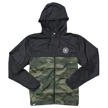 Helix Full-Zip Windbreaker - Black / Camo