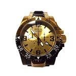 Invicta Men's 20141 Excursion Quartz 3 Hand Gold Dial Watch
