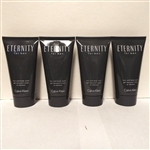 Calvin Klein Eternity for Men Hair and Body Wash 2.5 oz Shower Gel 4 Pack