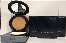 Avon Color Personal Match Matte Pressed Powder Makeup Beige .4oz 4 Pack