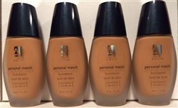 Avon Personal Match Matte Foundation Warmest Beige 1oz 4 Pack