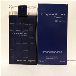 Apparition Cobalt Homme By Emanuel Ungaro Eau De Toilette Spray 3.0 oz