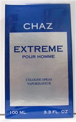 Chaz Extreme Cologne Pour Homme 3.3oz Cologne Spray