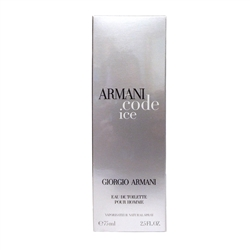 Armani Code Ice For Men by Giorgio Armani Eau De Toilette Spray 2.5 oz