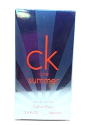 Calvin Klein CK One Summer 2017 Eau De Toilette  3.4 oz