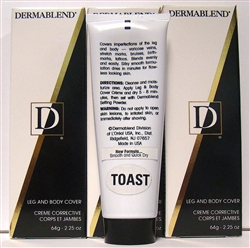 Dermablend Leg And Body Cover Color: Toast  2.25oz 3 Pieces