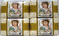Potager Lavender Pure Vegetable Soap 6.2oz 4 Pieces