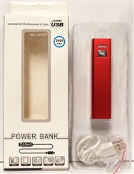 Portable Power Bank USB Charger Red