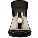 Pulsar Women's Black Leather Watch PPH072S