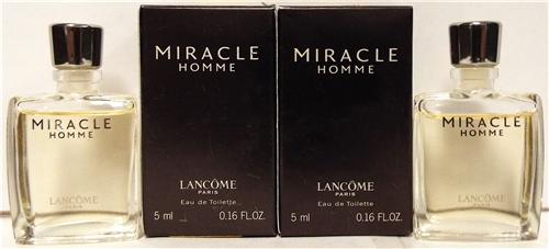 2 Miracle Homme Lancome Eau De Mini16oz Toilette Bottles 8nOk0wPX