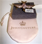 Juicy Couture Sparrow Double Finger Ring Juicy Couture Style No. Yjru4698 Double Finger Ring One Size Crystal Encrusted Gold Tone Cocktail Ring Retail'S $88.00
