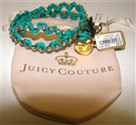Juicy Couture Green Festival Chic Rhinestone Wrap Bracelet Juicy Couture Style No. Yjru4727