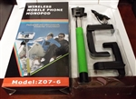 Wireless Bluetooth Selfie Stick Monopod for Mobile Phones Model Z07-6 Green
