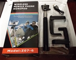 Wireless Bluetooth Selfie Stick Monopod for Mobile Phones Model Z07-6 Black