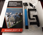Bluetooth Selfie Stick Monopod for Mobile Phones Model Z07-6 Blue