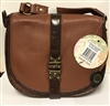 The Sak Topanga Leather Style 105530 Maple Cross Body Saddle Bag