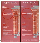 Matrix Shade Memory Vivid Reds Balancing System Weekly Reconstructive Treatment 2pk