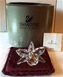 Swarovski Silver Crystal 200280 The Orchid Yellow 7478 000 002