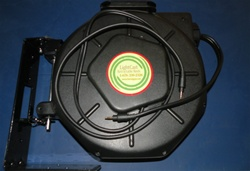 Retractable 3.5mm Stereo Audio Cable Reel - 50' foot - Audio Reels - Audio Reels by Lightcast